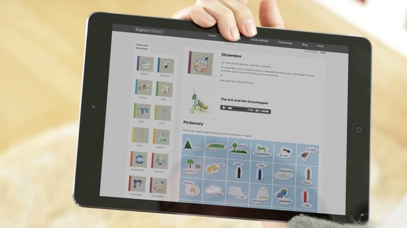 Colección Garabato en la tablet
