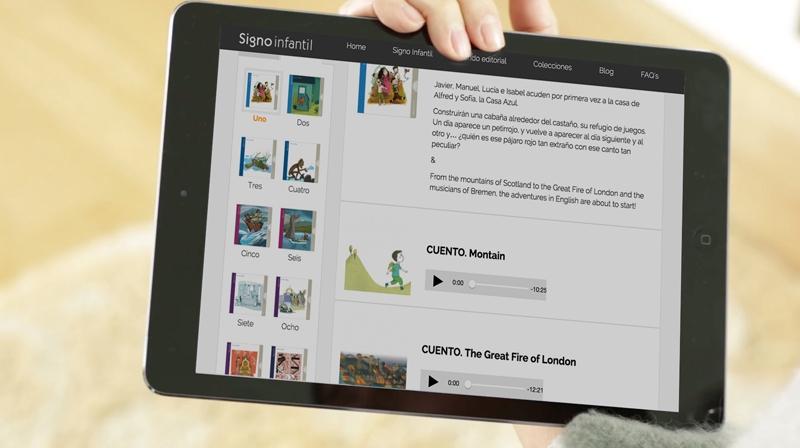Colección Trazo en la tablet
